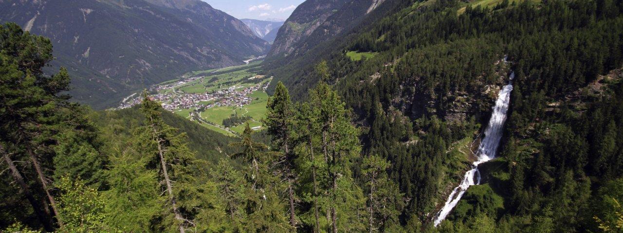 Les chutes d'eau Stuibenfall d'Umhausen, © Tirol Werbung/Bernhard Aichner