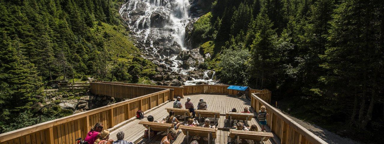 Plateforme bien-être des chutes d'eau Grawa, © TVB Stubai Tirol