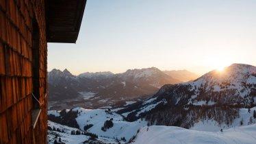 Le soleil se couche sur les Alpes de Kitzbühel, © Tirol Werbung/Frank Bauer