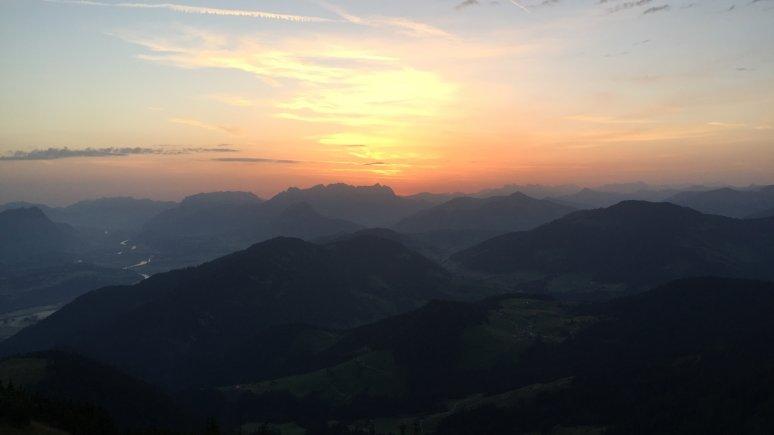 Lever de soleil depuis le sommet Gratlspitze, vallée d'Alpbachtal, © Alpbachtal Tourismus