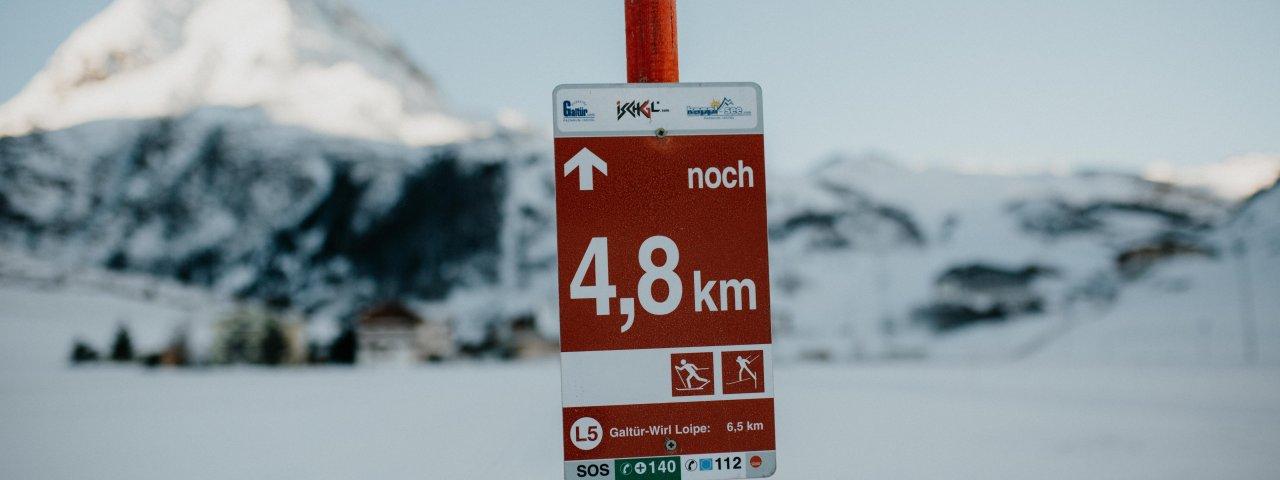 Signalisation sur les pistes de ski de fond, © Tirol Werbung/Charly Schwarz Photos