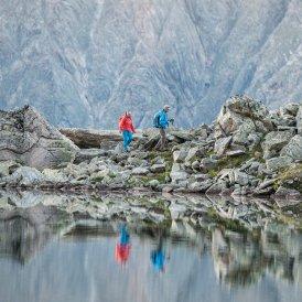 Lac de montagne le long du chemin d'altitude Stubaier Höhenweg, © TVB Stubai Tirol/Andre Schönherr