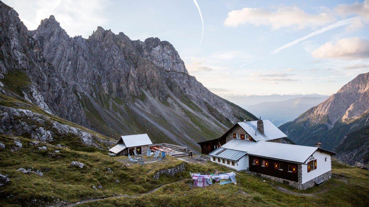 La Voie de l'Aigle : but d'étape, l'auberge d'altitude Württemberger Haus, © Tirol Werbung