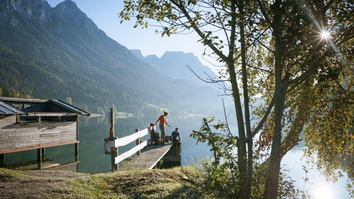 La Voie de l'Aigle : halte au lac Hintersteiner See, © Tirol Werbung