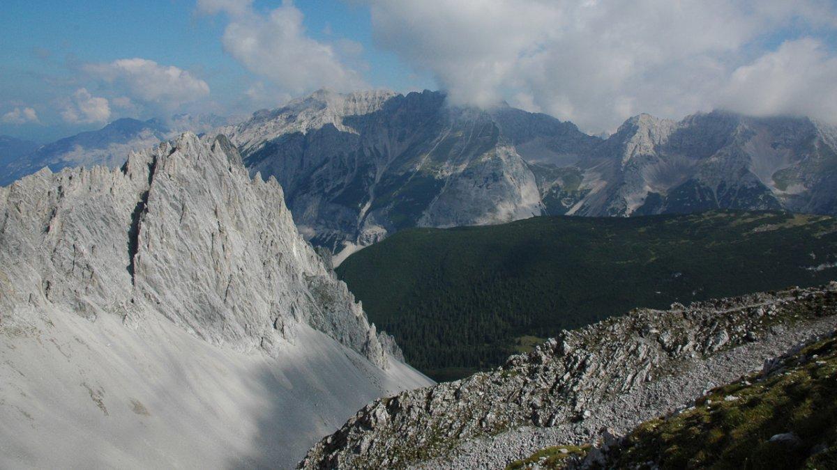 Vue depuis Hafelekar sur le Karwendel, © Naturpark Karwendel