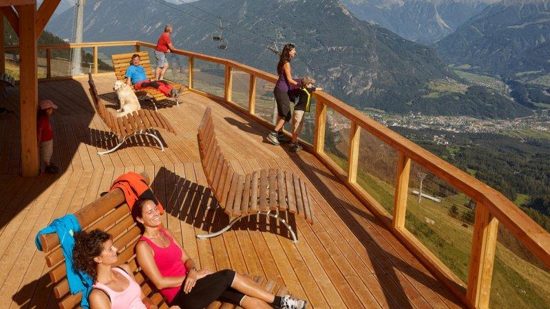 La terrasse panoramique SunOrama, © Archiv Imst Tourismus