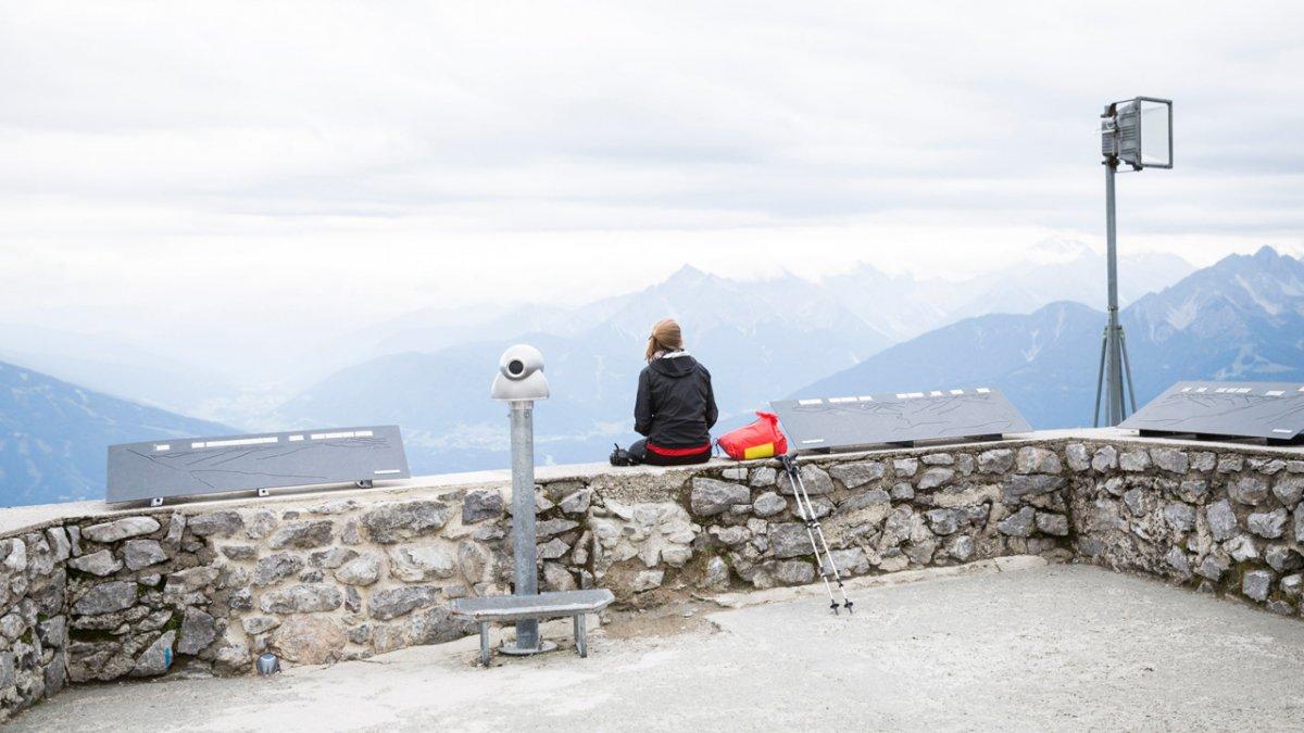 La Voie de l'Aigle : vue depuis Hafelekar sur Innsbruck, © Tirol Werbung