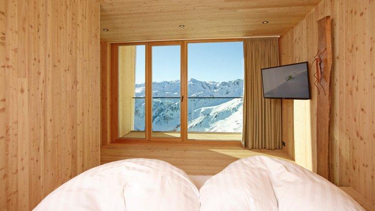 Chambre dans le chalet Kristallhütte, © Kristallhütte