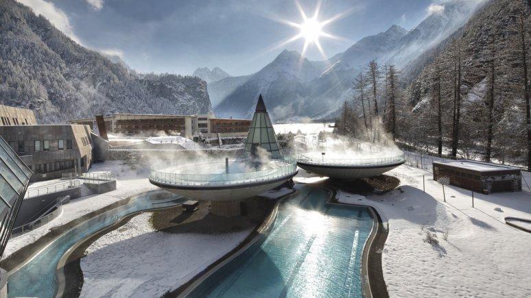 L'Aqua Dome en hiver, © TVB Ötztal