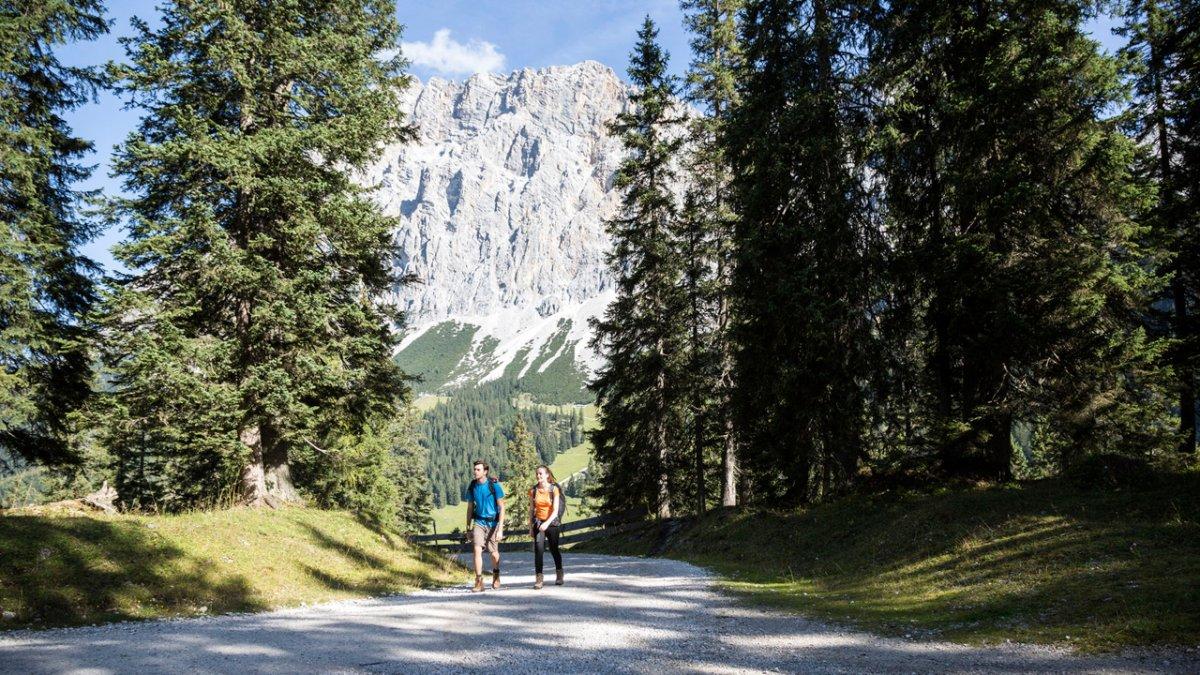 Chemin de randonnée dans la Gaistal, © Tirol Werbung/Dominik Gigler