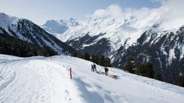 Piste de luge Juifenalm dans la vallée de Sellraintal, © Tirol Werbung/Webhofer Mario