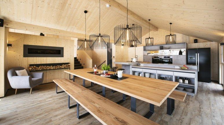 Maison de vacances au glacier de Stubai : Haus Dorf, la cuisine, © Andre Schönherr