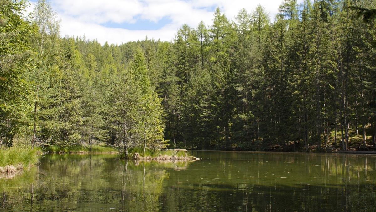Trois petites îles se dressent au milieu du lac d'un vert presque irréel de Winkelbergsee., © Ötztal Tourismus