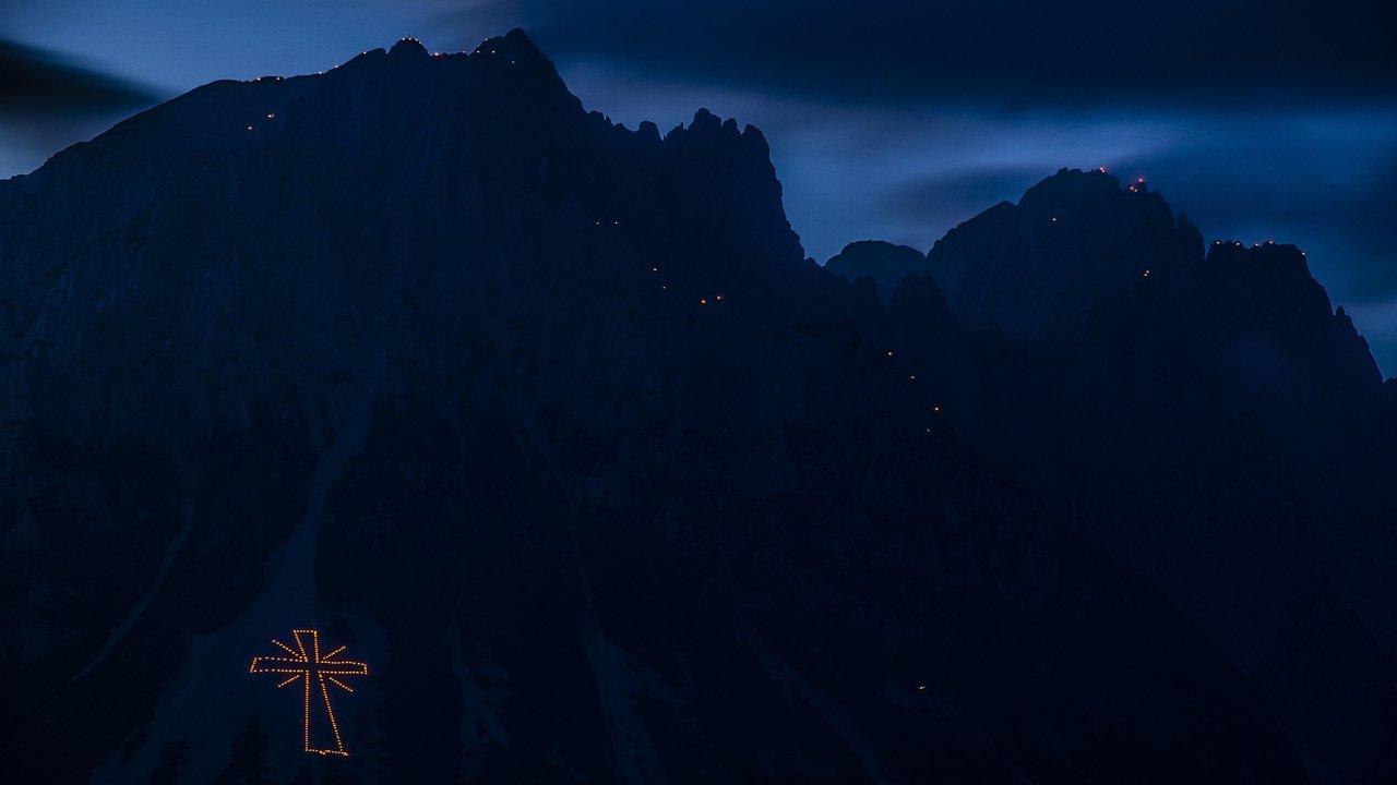 Les feux du solstice d'été sur la Wilder Kaiser, © TVB Wilder Kaiser