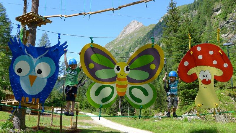 Parcours enfants du parc accrobranche Grossvenediger, © Großvenediger Adventures