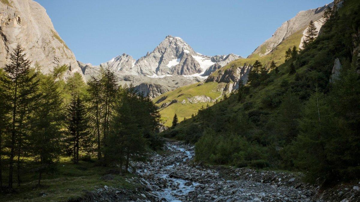 La Voie de l'Aigle : vue sur le Großglockner, la montagne la plus haute d'Autriche, © Tirol Werbung