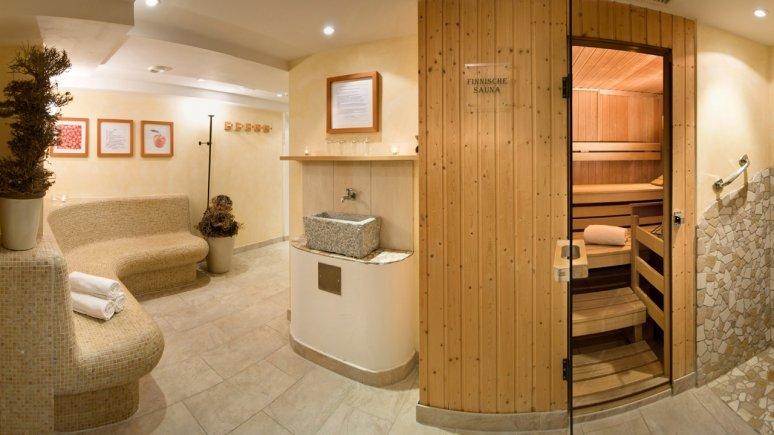 Espace sauna à l'hôtel Bio Schweitzer de Mieming, © Biohotel Schweitzer