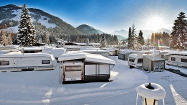 Camper en hiver au Tyrol, © Euro Camp Kössen
