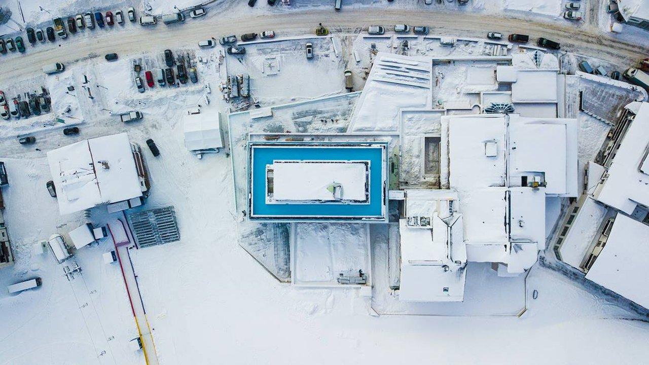 Piscine infinie 360° sur le toit de l'hôtel Mooshaus à Kühtai, © Gerber Hotels
