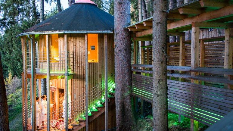 Sauna forestier à l'hôtel Bio Grafenast, © Bio-Hotel Grafenast