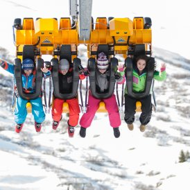Comme suspendus aux griffes d'un aigle royal, vous survolez le domaine skiable., © Andreas Kirschner