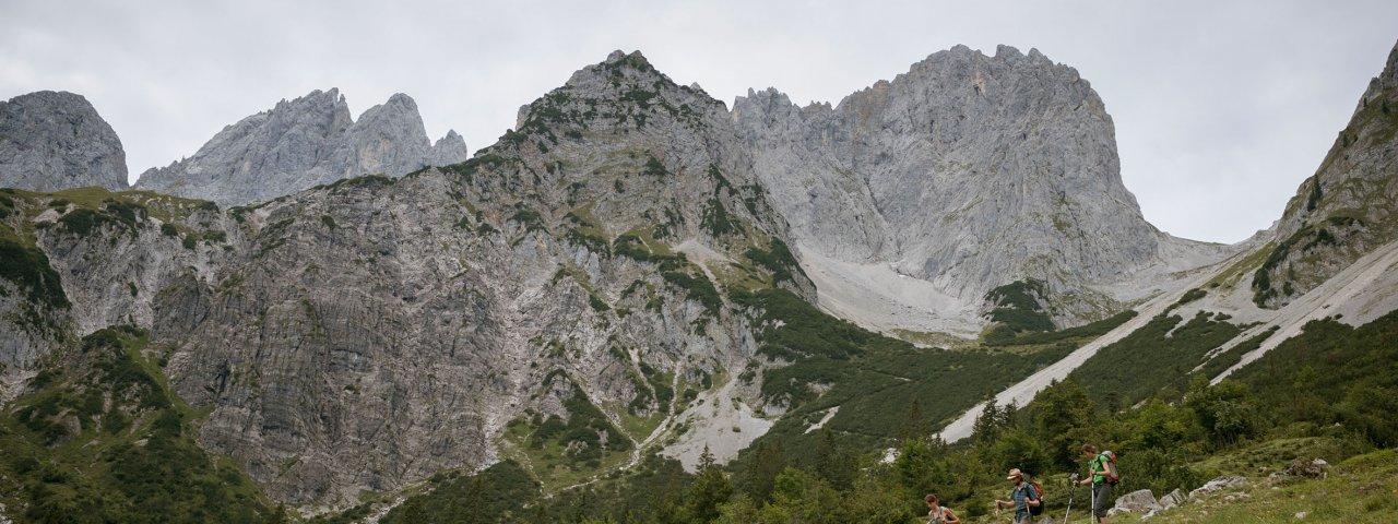 Voie de l'aigle étape 1 : Kaisergebirge, © Tirol Werbung/Jens Schwarz