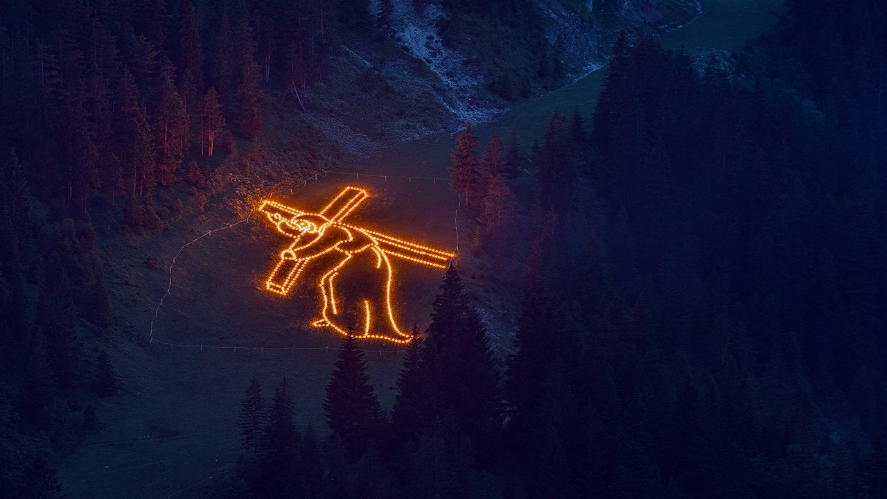 Les feux du corps du Christ dans la vallée de Tannheimer Tal, © TVB Tannheimer Tal