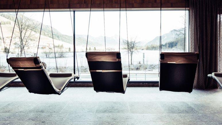 Salle de repos dans le Biohotel Bergzeit, © Daniel Zangerl