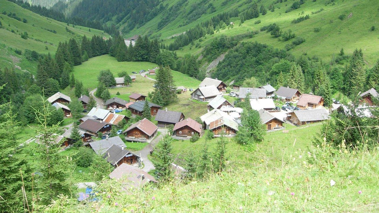 Le village de refuges de montagne Fallerschein, © Hüttendorf Fallerschein