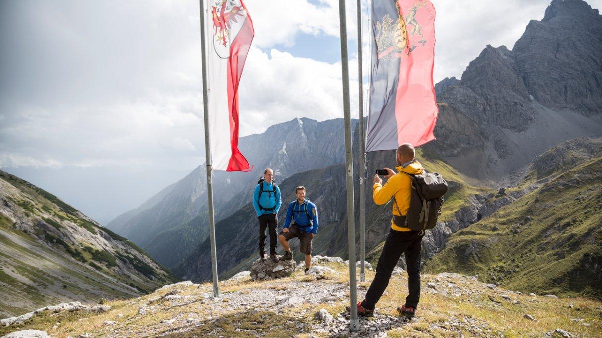La Voie de l'Aigle : vue sur les Alpes de Lechtal, © Tirol Werbung