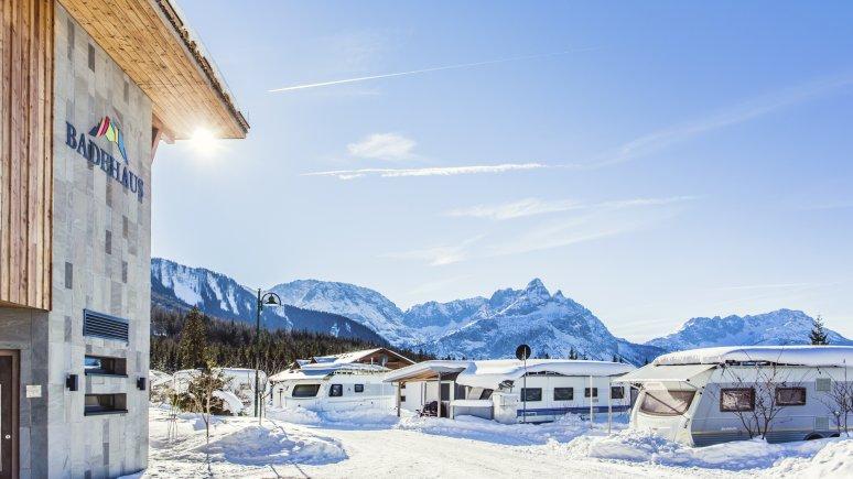 Hiver au camping Zugspitze resort, © Eva.trifft