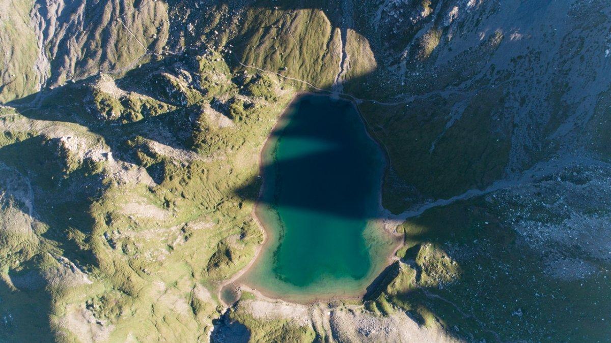 Le lac de Steinsee vue d'en haut