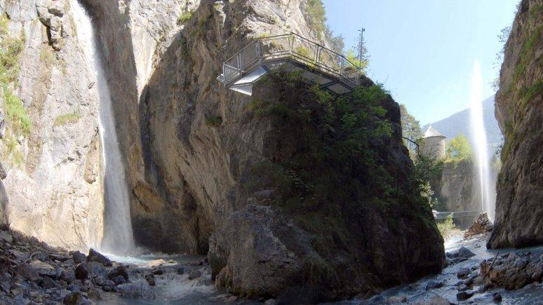 Les chutes d'eau Lötzer des Zammer Lochputz, © Archiv TVB TirolWest, Erich Auer