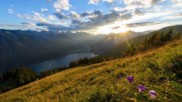 Lever du soleil sur le grand lac d'Achensee, © Achensee Tourismus