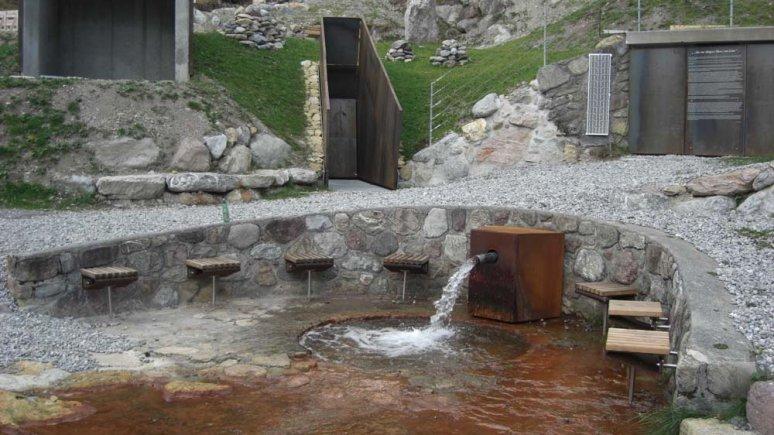 Source d'eau aux propriétés curatives de Grins, © Archiv Gemeinde Grins