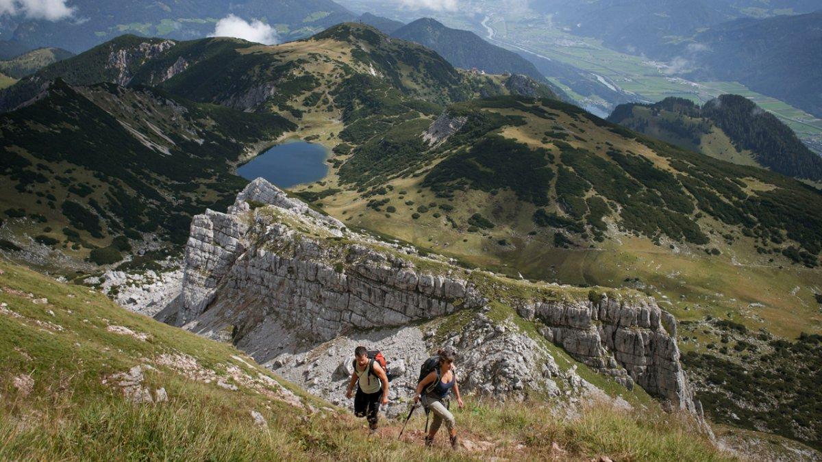 La Voie de l'Aigle : étape dans le Rofan, © Tirol Werbung