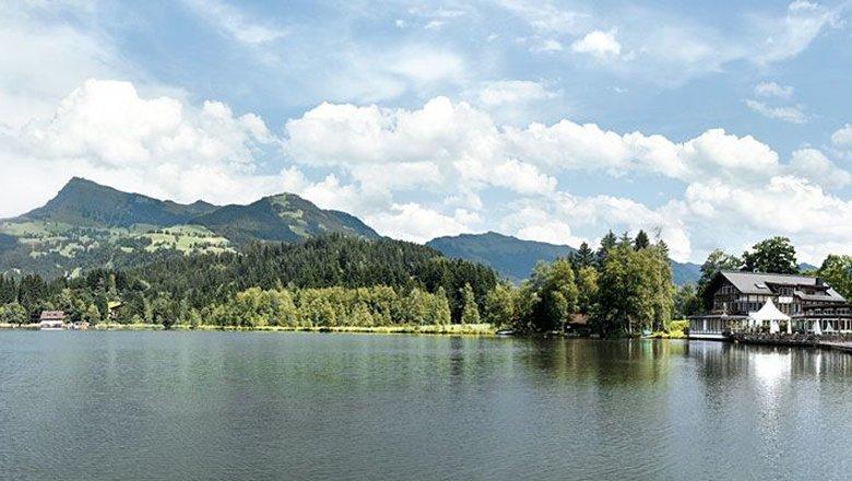 Lac de baignade Schwarzsee, © Kitzbühel Tourismus/Medialounge