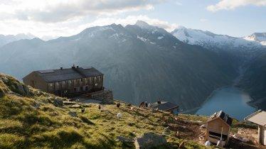 Auberge d'altitude Olperer Hütte du GR Peter-Habeler-Runde, © Tirol Werbung/Jens Schwarz