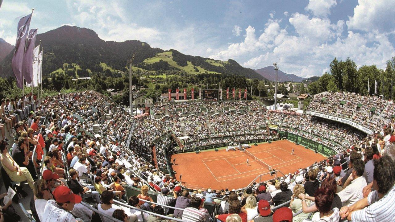 Le stade de tennis de Kitzbühel, © Kitzbühel Tourismus
