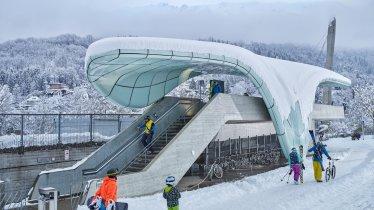 Téléphérique de Hungerburg pour monter à la Nordkette de Zaha Hadid, © Innsbruck Tourismus/Christian Vorhofer