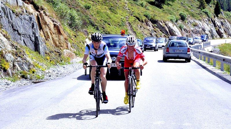 La course cycliste Bergkaiser part d'Innsbruck et finit au-delà de 2 000 mètres d'altitude à Kühtai, © RC Radsportevents Tirol