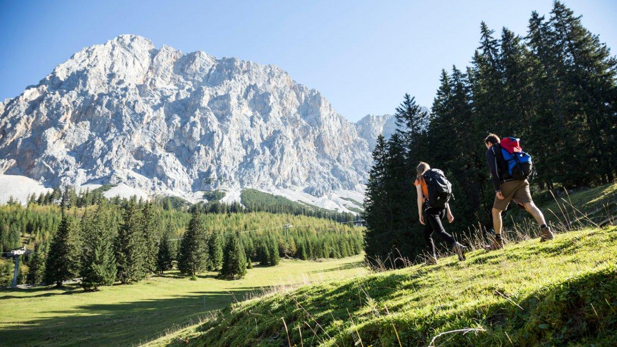 La Voie de l'Aigle : par la vallée de Gaistal en direction de la Zugspitze, © Tirol Werbung